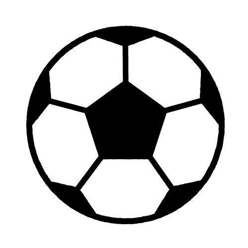 サッカー/布用シールセット(S・M・L・LL・円)