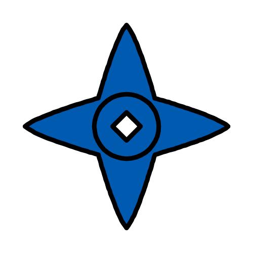 しゅりけん/耐水シールセット(S・M・L・円)