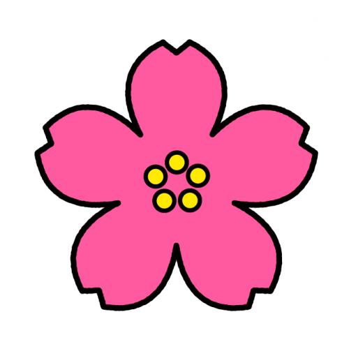 さくら/耐水シールセット(S・M・L・円)