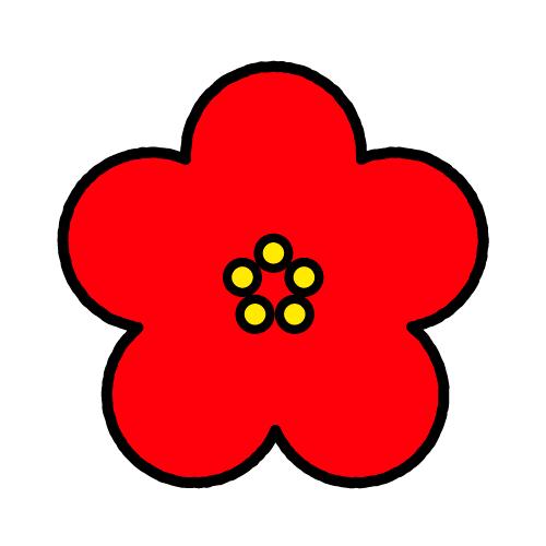 うめ/耐水シールセット(S・M・L・円)