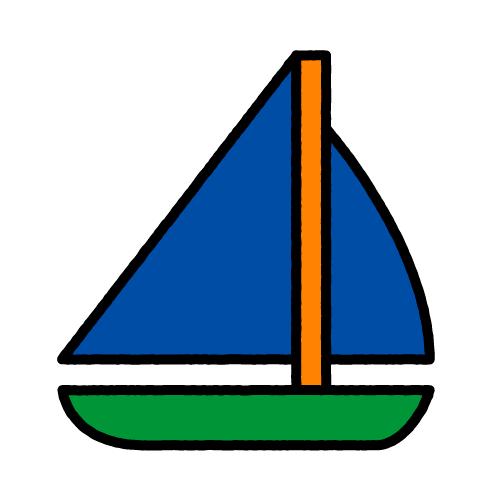 ヨット/保護フィルム付き防水シール