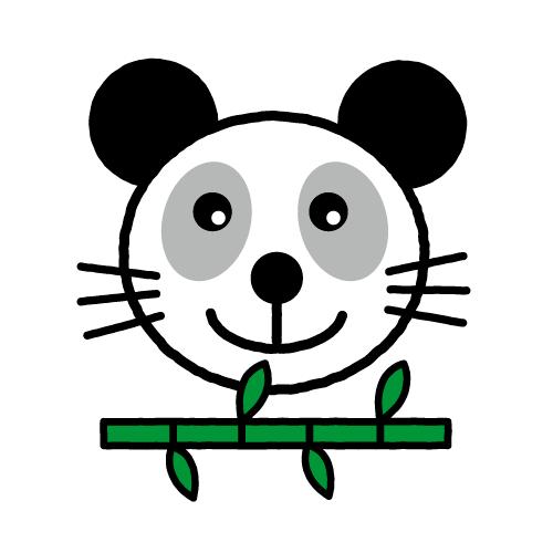 パンダ/保護フィルム付き防水シール