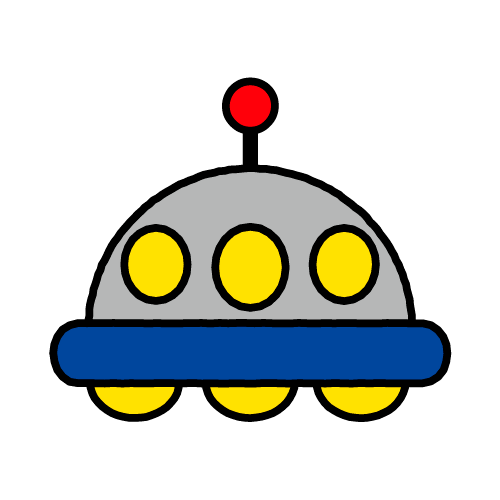 UFO/耐水シールセット(S・M・L・円)