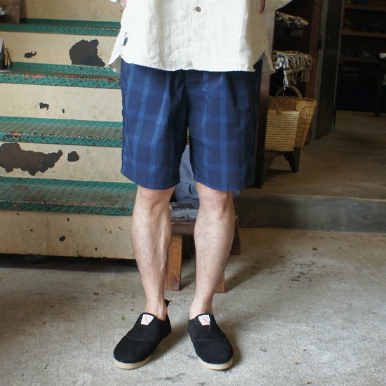 ordinary fits(オーディナリーフィッツ) travel shorts (nvy chk)【送料無料!】