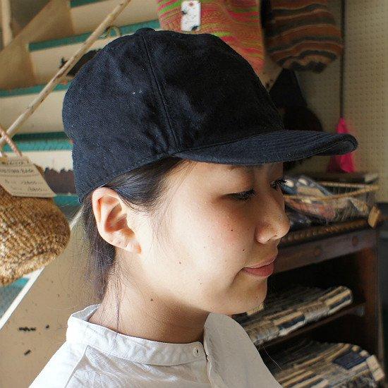 HIGHER(ハイヤー)ヴィンテージリネン CAP (black)【送料無料!】