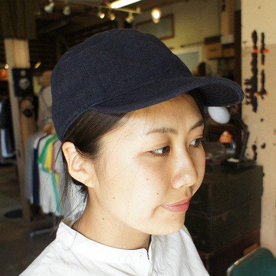 HIGHER(ハイヤー)ヴィンテージリネン CAP (navy)【送料無料!】