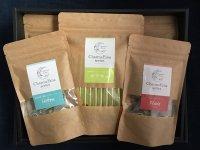 高濃度緑茶ポリフェノール【カテキュ】3g×10本詰 3袋、ハーブティー【フルス】【ヘーベン】2g×7袋 各1袋