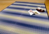 【掛川織い草ラグ】東山(ひがしやま) [ブルー] 税込 16,800円〜21,000円