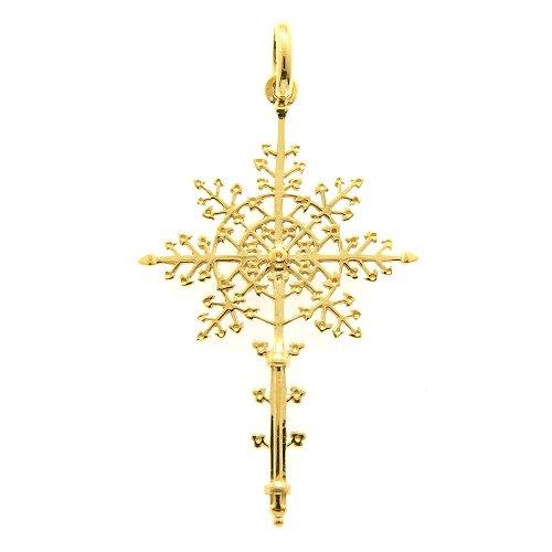 十字架ペンダント(スノークリスタル)40ミリ