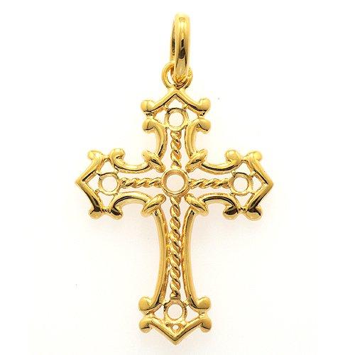 十字架ペンダント(螺旋)30ミリ