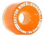 快適!! SECTOR 9 ウィール NINE BALL 58MM 78A LIGHT ORANGE