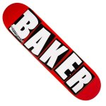 BAKER デッキ BRAND LOGO WHITE 7.3 キッズサイズ
