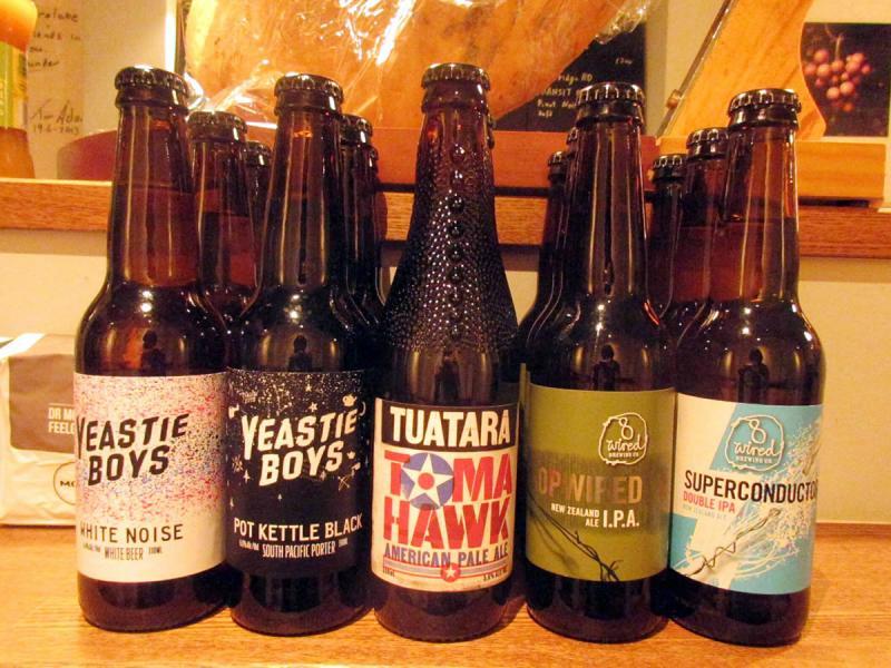 ニュージーランドのクラフトビールが再入荷。新しいものもお目見えです(11/9)。