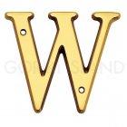 真鍮製アルファベット「W」 ゴールド (W113×D4.5×H102mm)