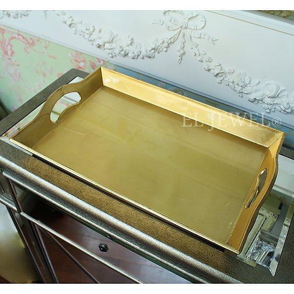 【入荷未定】キラキラ♪ フランス「Aulica」社製ゴールドトレイ(W44×H28cm)