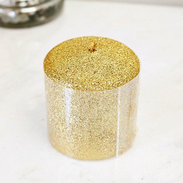 【入荷未定】キラキラ♪ フランス「Aulica」社製ピーラーキャンドル ゴールド(φ7×H8cm)