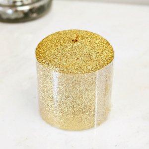 <B>【即納可!】</B>キラキラ♪ 【フランス-Aulica】ピーラーキャンドル ゴールド(φ7×H8cm)