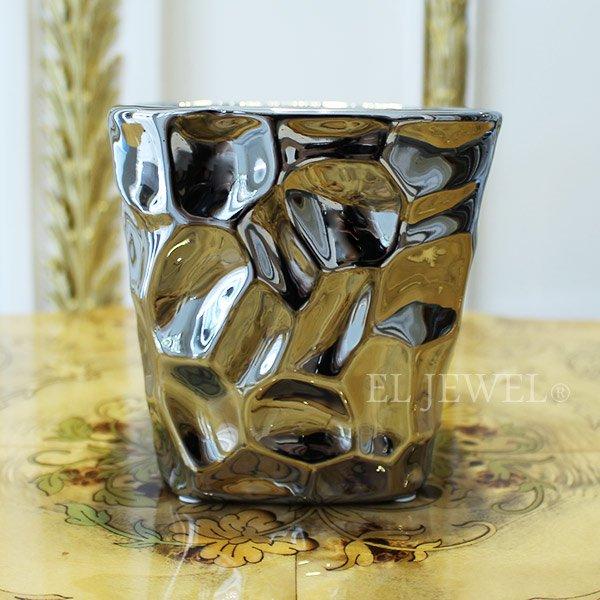 【即納可!】【フラワーベース】モダン・シルバーカップ(花器) Sサイズ (W11×H11.5cm)