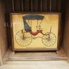 <B>【即納可!】【限定品】</B>アメリカ ヴィンテージアートフレーム(額絵) 馬車A(W26×H21cm)
