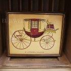 <B>【即納可!】【限定品】</B>アメリカ ヴィンテージアートフレーム(額絵) 馬車C(W26×H21cm)