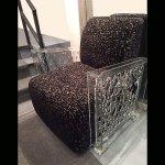 <b>【NYデザイナーズ家具】</b>アクリル家具 アームチェア (W89×H84cm)