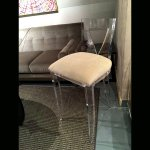 <b>【NYデザイナーズ家具】</b>アクリル家具 ハイチェア (W46×H97cm)