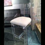 <b>【NYデザイナーズ家具】</b>アクリル家具 ハイチェア (W43×H109cm)