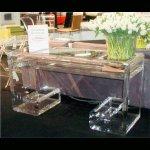 <b>【NYデザイナーズ家具】</b>アクリル家具 コンソールテーブル (W137×H76cm)