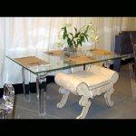 <b>【NYデザイナーズ家具】</b>アクリル家具 ダイニングテーブル