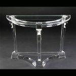 <b>【NYデザイナーズ家具】</b>アクリル家具 コンソール (W99×H76cm)