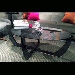 <b>【NYデザイナーズ家具】</b>アクリル家具 リビングテーブル (W119×H45cm)