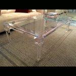 <b>【NYデザイナーズ家具】</b>アクリル家具 リビングテーブル (W140×H40cm)