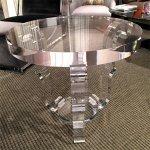 <b>【NYデザイナーズ家具】</b>アクリル家具 サイドテーブル (φ69×H62cm)