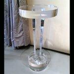 <b>【NYデザイナーズ家具】</b>アクリル家具 サイドテーブル (φ30×H61cm)