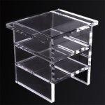 <b>【NYデザイナーズ家具】</b>アクリル家具 サイドテーブル (W50×H66cm)