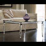 <b>【NYデザイナーズ家具】</b>アクリル家具 リビングテーブル (W107×H53cm)