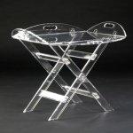 <b>【NYデザイナーズ家具】</b>アクリル家具 スタンドトレー (W89×H71cm)