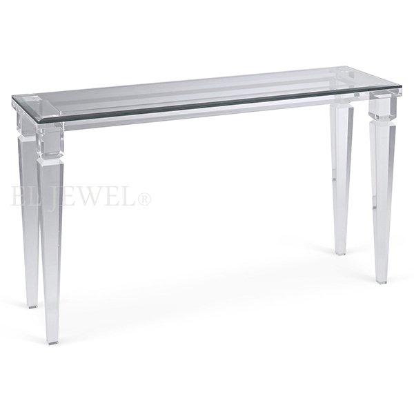 【NYデザイナーズ家具】アクリル家具 コンソールテーブル(W137×D41×H76cm)