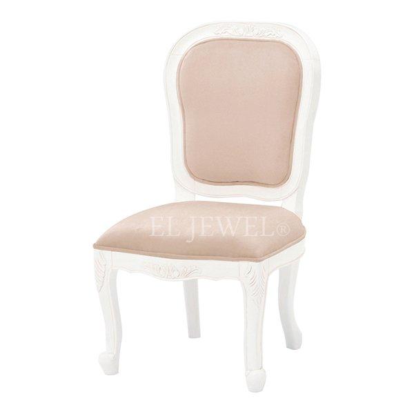 【セール!】【Violetta】キュートな姫家具♪ダイニングチェアー・ベージュ(W51×D58×H95cm)