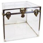 <b>【NYデザイナーズ家具】</b>アクリル家具 トランクボックス(W56×D56×H56cm)Thomas Brillet Inc