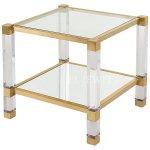 <b>【NYデザイナーズ家具】</b>アクリル家具 サイドテーブル(W61×D61×H56cm)Safavieh Couture