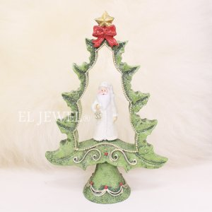 <b>【即納可!】</b>クリスマスアイテム♪ オープンツリーデコA・サンタ(H15cm)