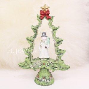 <b>【即納可!】</b>クリスマスアイテム♪オープンツリーデコB・スノーマン(H15cm)