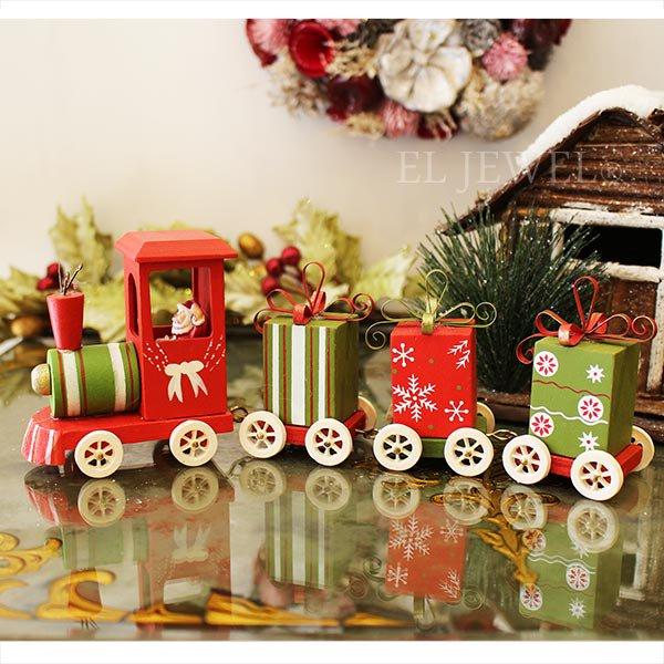 【即納可!】クリスマスアイテム♪ オブジェ サンタトレイン♪(W24×D5×H9cm)