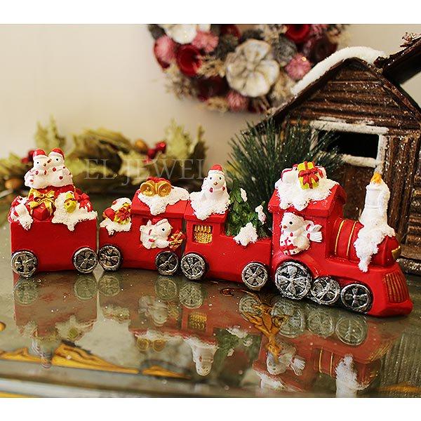 【即納可!】クリスマスアイテム♪ オブジェ プレゼントトレイン♪(W23.5×D4.5×H7cm)
