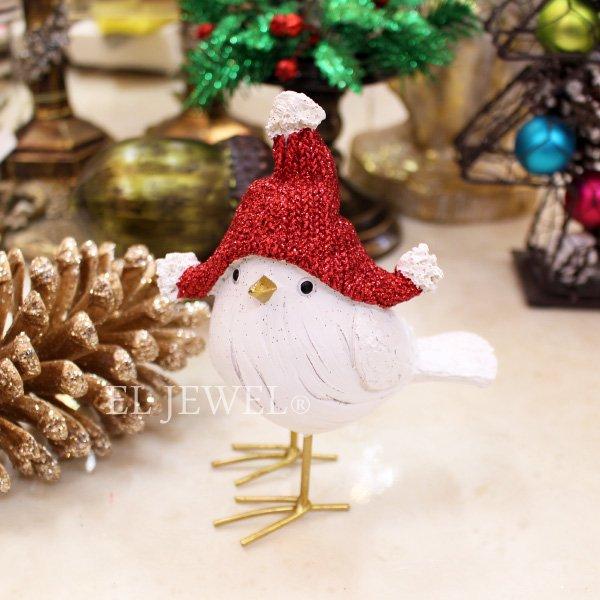【即納可!】クリスマスアイテム♪ オブジェ ナポレオンハットバード♪(W11.5×D6×H14.5cm)