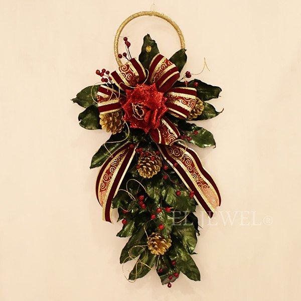 【即納可!】クリスマスアイテム♪ ウォールデコ・グリーン(W32×H60cm)