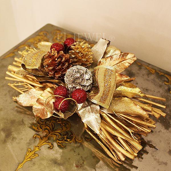 【即納可!】クリスマスアイテム♪ ログアレンジ(W30×H14cm)