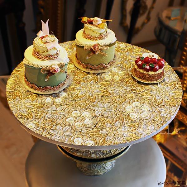 【10月下旬入荷予定】クリスマスアイテム♪ フローラルケーキスタンド・ホワイト系(φ30×H10cm)