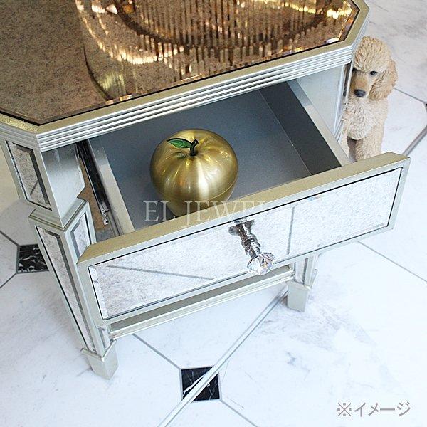 【完売】【限定品】【ミラー家具】引き出し付き ミラーサイドテーブル(W45×D60×H61cm)
